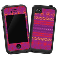 """Purple Tribal """"Protective Decal Skin"""" for LifeProof iPhone 4/4s Case"""