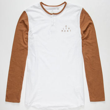 Altamont Spansive Mens Henley White  In Sizes