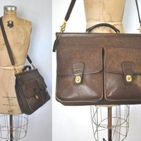 Coach Briefcase / laptop bag / brown leather