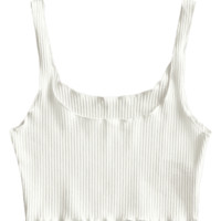Ribbed Fitted Crop Tank Top