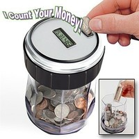 EZ-Count Money Jar Digital Coin Counter