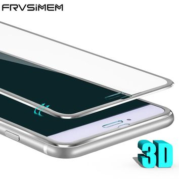 Frvsimem 3D Curved Edge Tempered Glass For iPhone 6 6s 7 plus 8 8Plus X i10 iX Full Coverage Protective Film Screen Protector