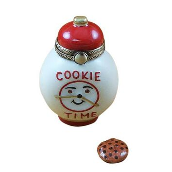 COOKIE TIME JAR WITH REMOVABLE COOKIE LIMOGES BOXES