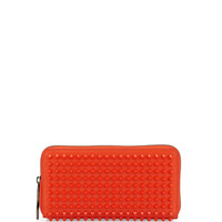Panettone Spiked Zip Wallet, Orange - Christian Louboutin