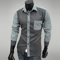 Designer Men Fashion Slim Fit Dress Shirt