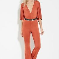 V-Neck Flared Jumpsuit