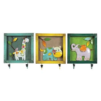 SET OF 3 ANIMAL PICTURE HOOk
