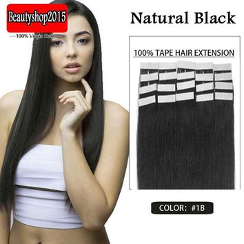 5 Pieces 100% Real Clip in Remy Human Hair Extensions Full Head Highlight US