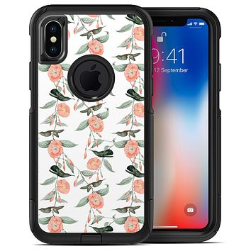 The Coral Flower and Hummingbird All Over Print - iPhone X OtterBox Case & Skin Kits