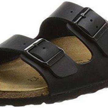 Birkenstock Unisex Arizona Soft Footbed Suede Sandals, Black - 41 N EU / 10-10.5 2A(N)