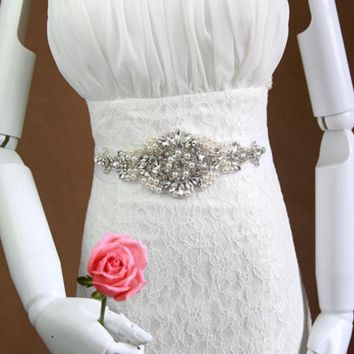 Bridal belt and sashes bridal belts with crystals beaded rhinestone belts for wedding dresses