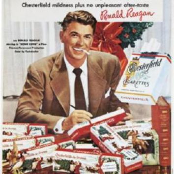 Reagan Ronald Chesterfield Cigarettes Ad poster 11 inch x 17 inch Poster
