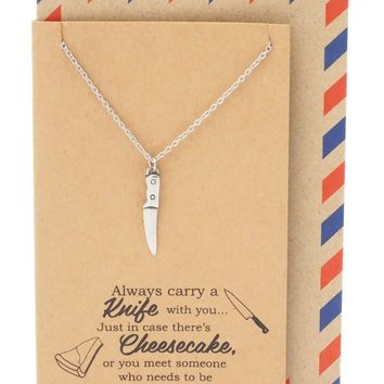 Maddox Best Friend Gifts Cooking Jewelry Knife Necklace Funny Birthday Cards