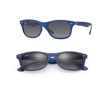 New Ray Ban Blue Sunglasses RB4207 60158G Grey Lens 54-17-145 Fast Shiping