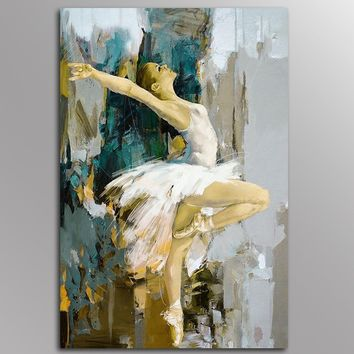 Unframed  Decor Canvas Painting Wall Pictures 1 Panels Wall Art Abstract Dancer Canvas Art Home Decor Modern  Pictures,