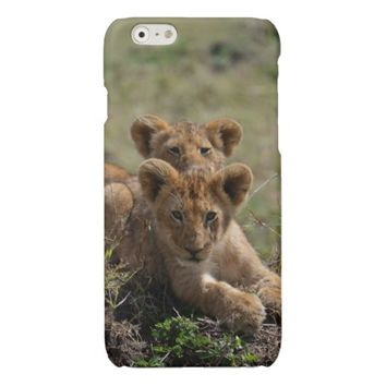 Wild African Lion Cubs Savvy iPhone 6 case