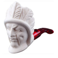 Mini Meerschaum Indian Chief Pipe