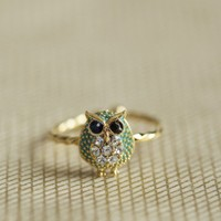 twisted owl ring at ShopRuche.com