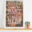 Pony Gold Get What You Need Art Print- Multi One