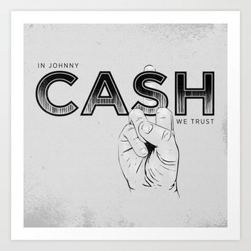 In Johnny Cash We Trust. Art Print by Matt Leyen