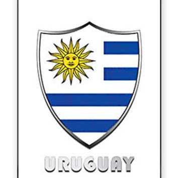 The Best Uruguay Flag Badge Direct UV Printed (not a sticker) iPhone 5C Quality TPU SOFT RUBBER Snap On Case for iPhone 5C - AT&T Sprint Verizon - White Case