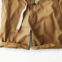 "AEO Men's 8"" Prep Short (Wooden Khaki)"