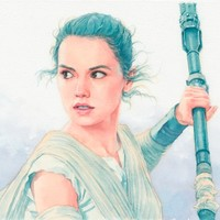 Rey watercolor Art Print by Hector Trunnec | Society6