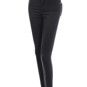 LE3NO Womens Premium Fitted High Waisted Skinny Jean Pants With Stretch (CLEARANCE)
