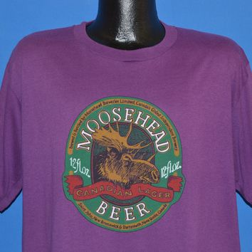 80s Moosehead Beer Canadian Lager t-shirt Extra-Large