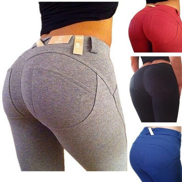 Plus Size Leggings Slim Fitness Women Hip Push Up High Waisted Elastic Pants Sexy Pencil Stretch Jeans Skinny leggings = 5659556225