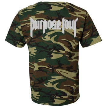 "Justin Bieber ""Purpose The World Tour 2016 / Purpose Tour"" Camo T-Shirt"