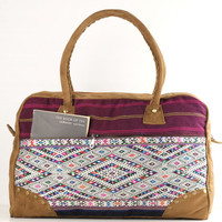 Tribal Woven Overnight bag Traditional Needlework Weekender bag, Suitcase, Travel bag