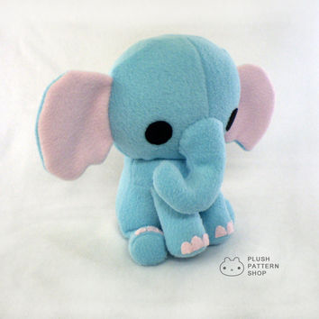 PDF Pattern - Elephant Sewing Pattern Stuffed Animal Plush