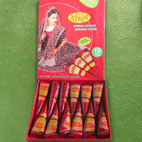 Handmade Henna cones,Fresh, Afrin Dulhan  Mehandi Cones, self making Body Tattoos henna tattoo kit - Dark Output guranteed color .100% pure.