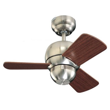 "Monte Carlo 24"" Micro 24 Fan - Brushed Steel - Ceiling Fan 3TF24BS"
