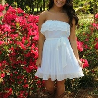 Butterfly Kisses Dress in White