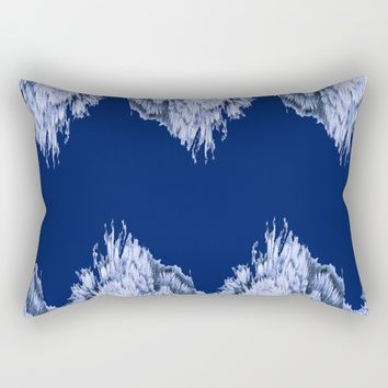 Season of the Chevron - Symmetry in Sapphire Rectangular Pillow by michael jon