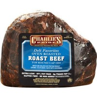 Charlie's Pride Top Round Cap-Off Fully Cooked Roast Beef
