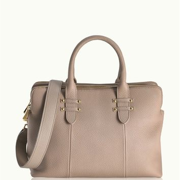 Stone Parker Satchel | Pebble Grain Leather | GiGi New York