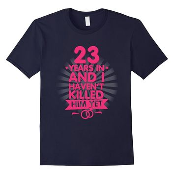 23 Years of Marriage T shirt. 23rd Anniversary Gift for Wife