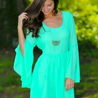 The One Who Got Away Dress-Mint
