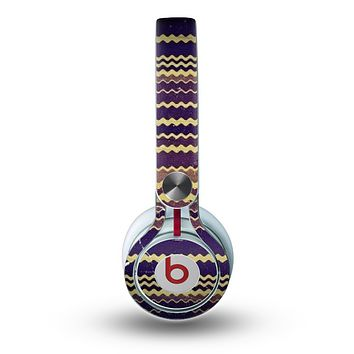 The Grunge Colorful ZigZag Striped Skin for the Beats by Dre Mixr Headphones