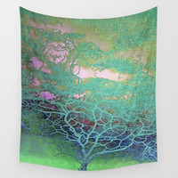 Tree of Life Wall Tapestry by ALLY COXON