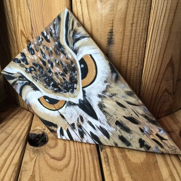 Hand Painted Owl Wall Art Painted on Barn Wood