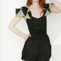 $365.00 Sofi Bamboo Twill and organic cotton short suit by Leanimal