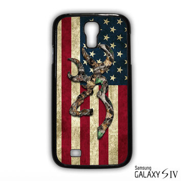 Browning Deer Camo American Flag Wood for phone case Samsung Galaxy S3,S4,S5,S6,S6 Edge,S6 Edge Plus phone case