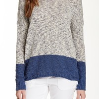 Marble Colorblock Sweater