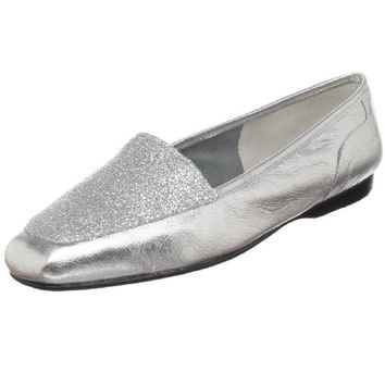 Enzo Angiolini Silver Liberty Loafer Flats
