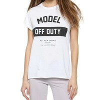 The Laundry Room Model Off Duty Uniform Tee