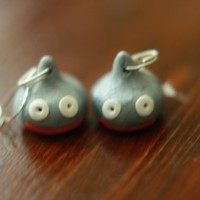 metal slime earring dragon quest warrior polymer clay video game